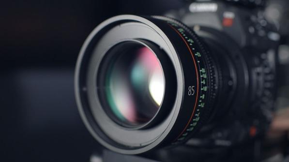 Close up image of a camera lens
