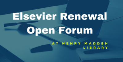 Elsevier Renewal Open Forum