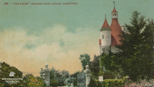 "'The Lodge'. Kearney Park. Fresno, California."", undated."