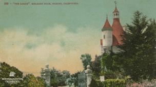 "'The Lodge'. Kearney Park. Fresno, California."", undated."