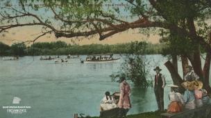 """Boating on the San Joaquin River, California, Near Fresno"", 1842."