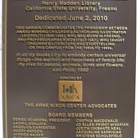 Garden plaque