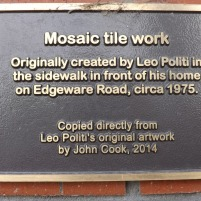 Mosaic tile plaque