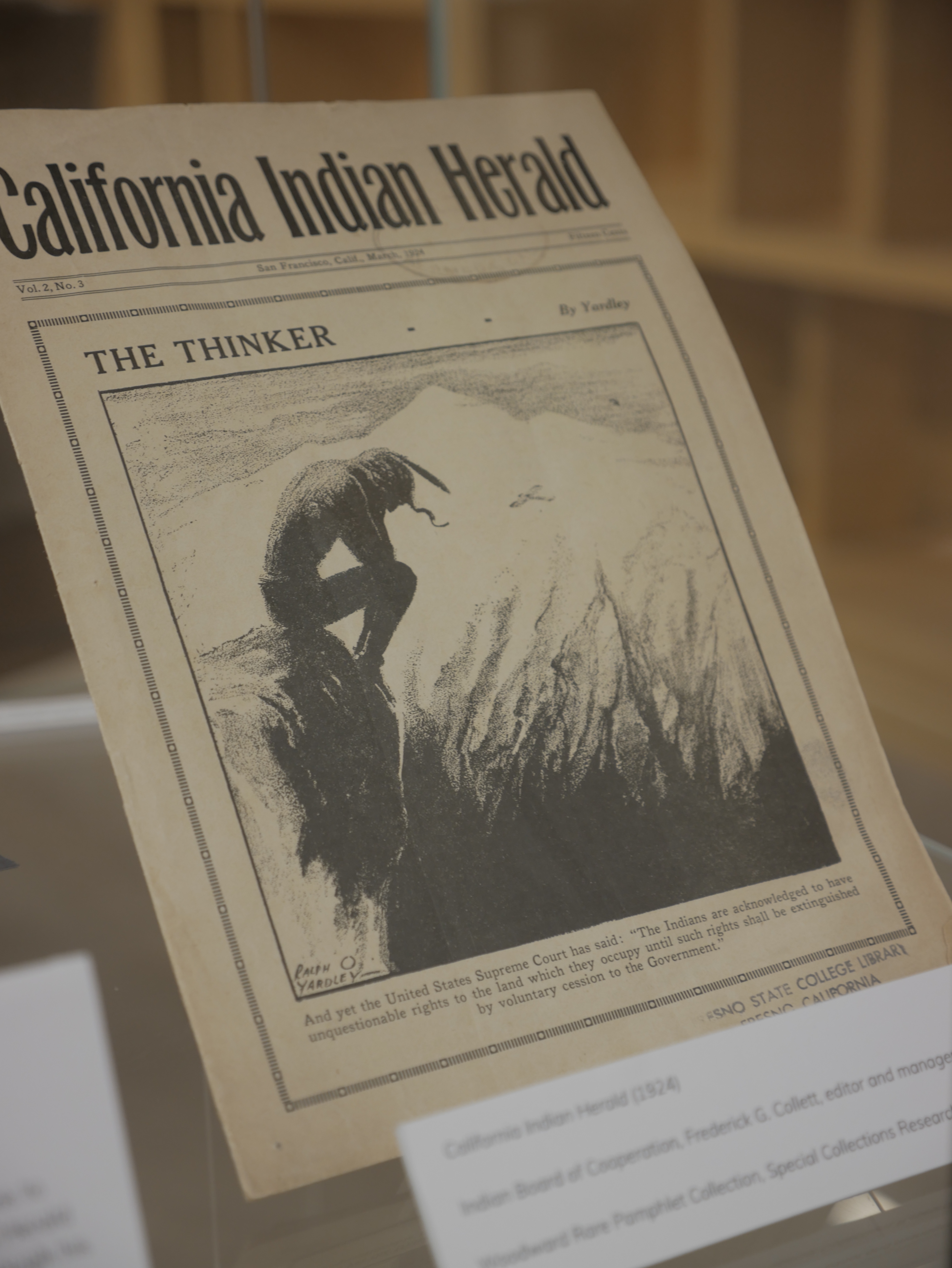 California Indian Herald cover from the 1930s